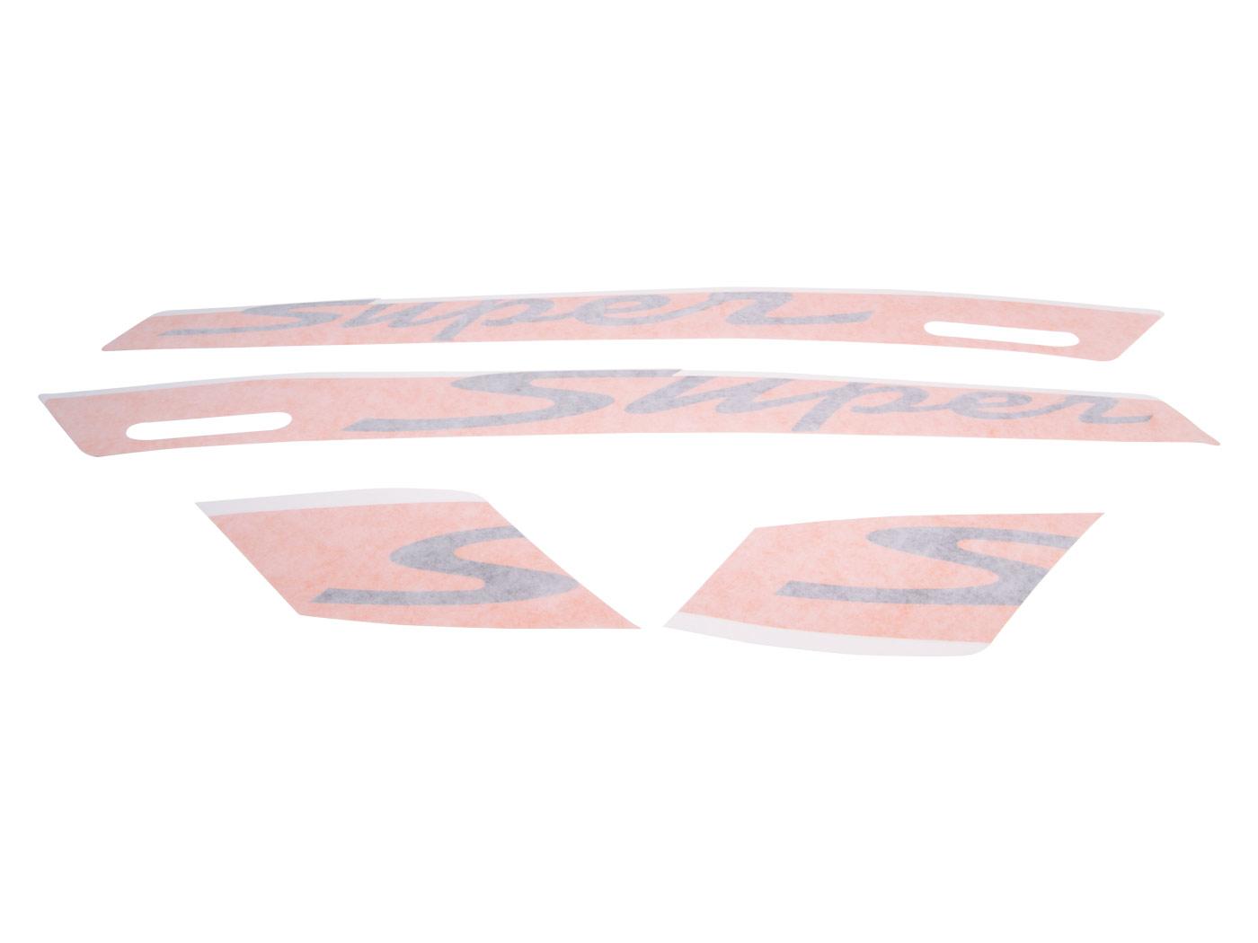 Aufkleber Dekorsatz Super Oem Orange Für Vespa Gts Super