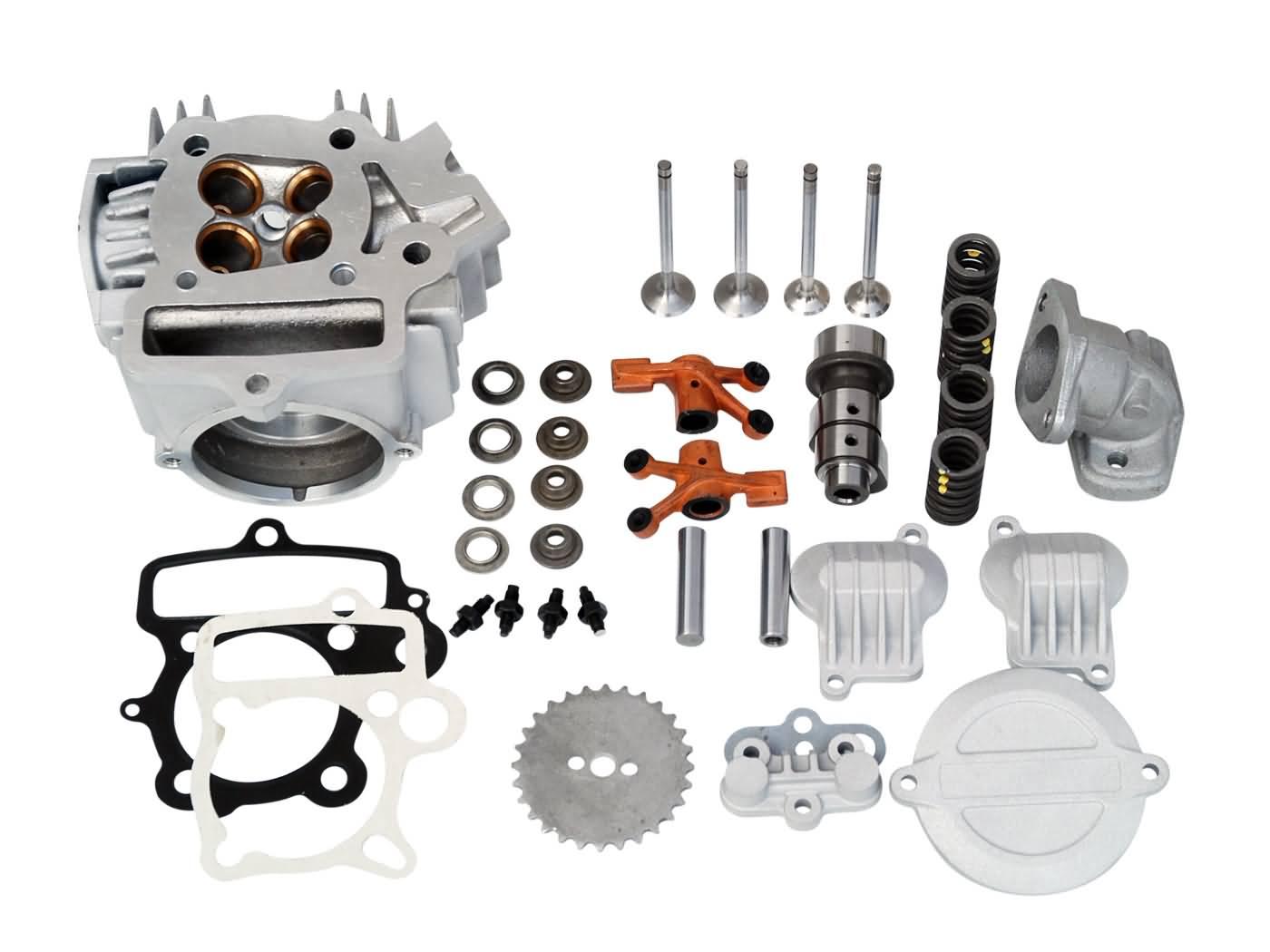 cylinder head Polini aluminum 107cc 52mm 4V for Honda XR, CRF