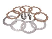 clutch plate / disc set reinforced +20% for Derbi EBE, EBS, D50B0
