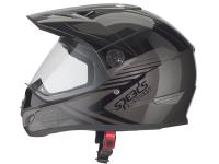 Helm Speeds Cross X-Street Dekor anthrazit / schwarz glänzend