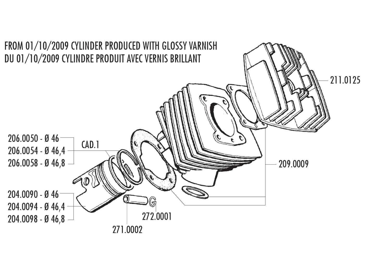 0125 CC Vespa GT 125 L /'Granturismo/' 2003 Full Gasket Set