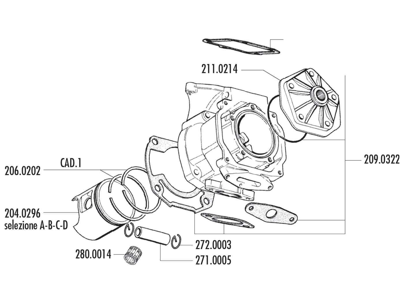 Cylinder Kit Polini Aluminum Racing 154cc 60mm For Rotax Engine Type 50 Elestart Model V5a3t Wiring Diagram All About Diagrams 122 123