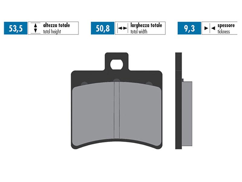 Baotian BT49QT Bremsbel/äge Polini organisch f/ür Aprilia SR50 Scarabeo