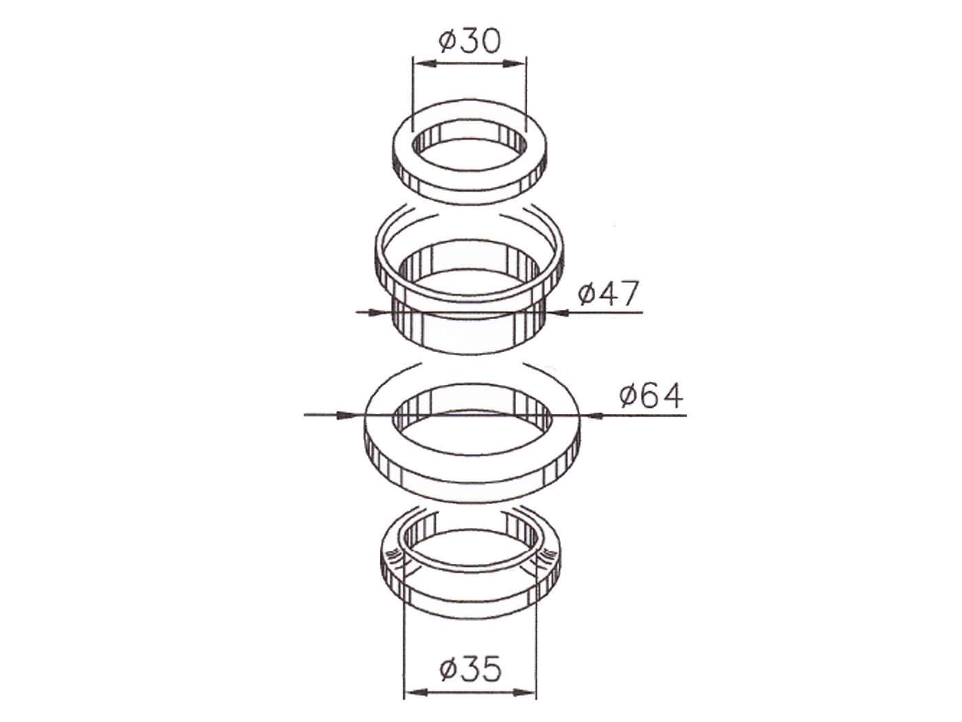 Steering Bearing Set For Piaggio Beverly 250 300 Gilera Nexus Hand Sealer Sj0052