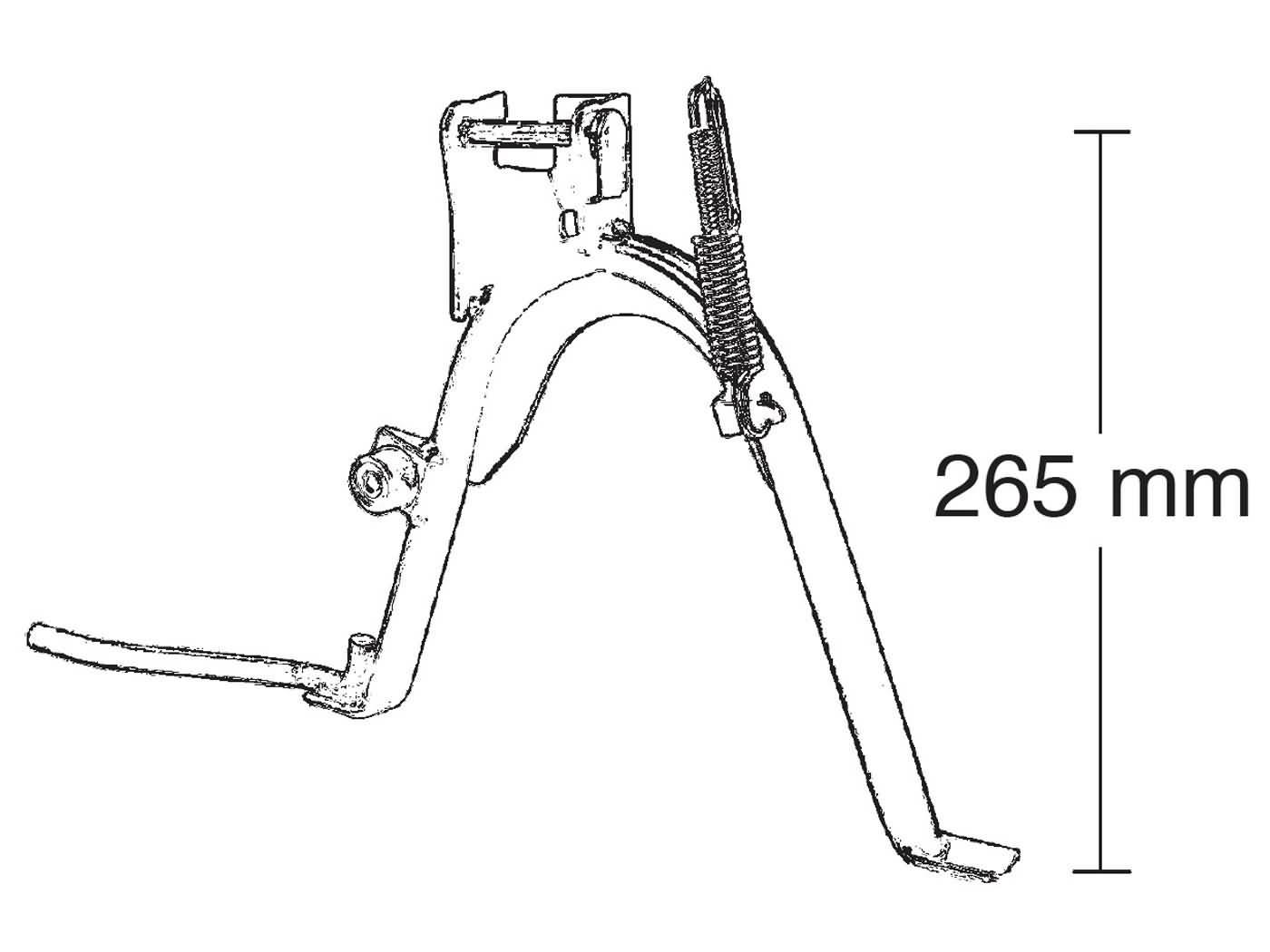Hauptständer RMS - R121610230 - Benelli K2,MBK Flipper
