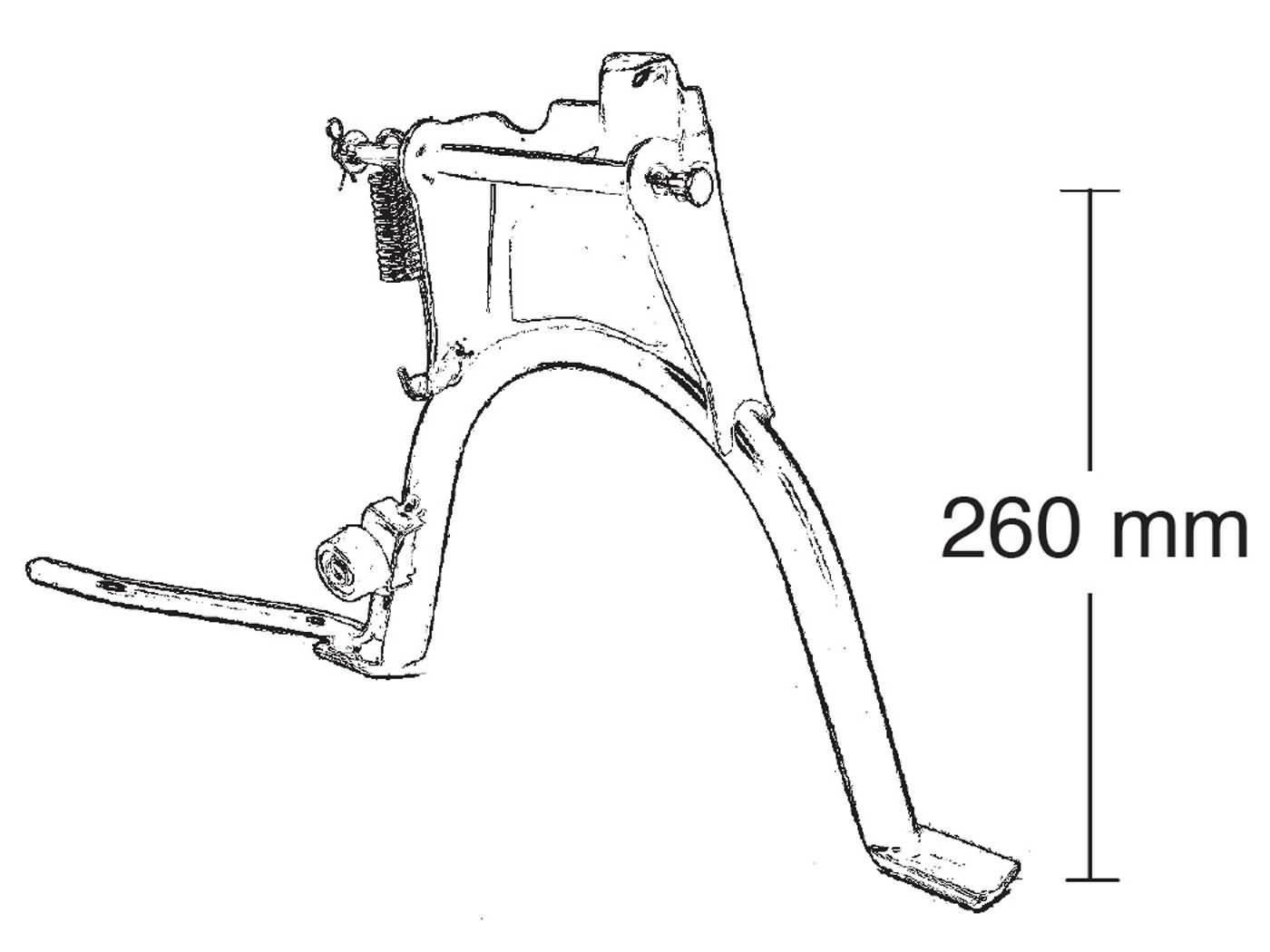 Yamaha Slider EW50 Hauptständer Buzzetti für MBK Stunt