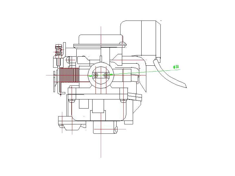SACHS Bee 50 Membrane f/ür Vergaser 18mm